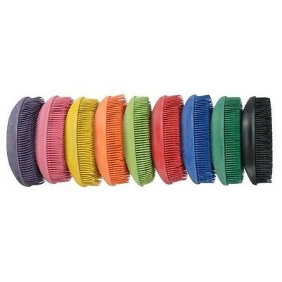 Tough-1 Flexible Rubber Face Brush for Horse Grooming - 6 Pack, Assorted