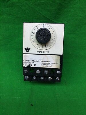 Eagle Signal Controls Br18A6 Series 0-10 Min Electric Reset Timer Br18A6