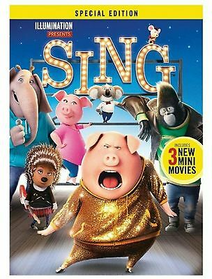 SING MOVIE DVD [BRAND NEW & SEALED] *FAST DELIVERY* Free P&P