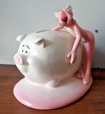 Royal Orleans 1981 United Artists Pink Panther Piggy Bank .. So Cute!
