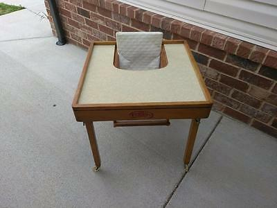Vintage Antique EAMES ERA Tiny Tot Safety Table With Original Decal 1940's 50's