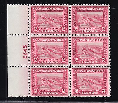 US 402 2c Pan-Pacific Mint Perf 10 Plate Block of 6 CHOICE! VF-XF OG LH SCV$1950