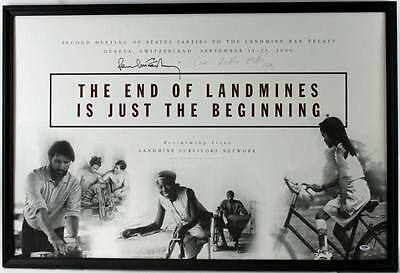 Paul Mccartney & Heather Mills Authentic Signed 27X40 Poster Framed PSA #Q02663