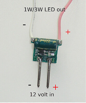 Buck Board. 300mA Constant Current 1W or 3W Bead LED Driver Board 12 volt.