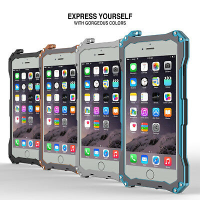 For iPhone 7 / 8 Plus Shockproof Aluminum Metal Rugged Protective Case Cover