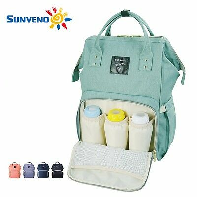 Sunveno Multifunctional Baby Diaper Backpack Mommy Backpack Nappy Changing Bags