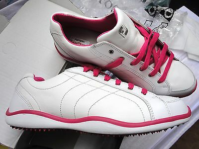 FootJoy Lopro ladies golf spikeless casual white shoes rrp £89.99 - UK Size 10