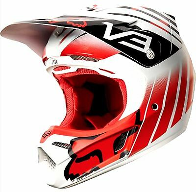 FOX V3 MOTOCROSS HELMET NEW & HELMET CARRY BAG rrp$529 Honda Red Lg XL  MX