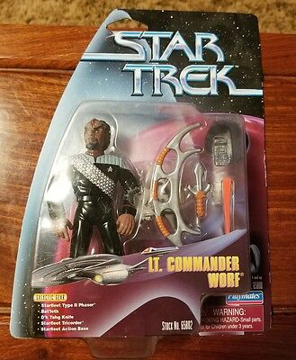 Playmates 1999 Star Trek UK CARD RARE Lt. Commander Worf Mint Diamond Hook RARE