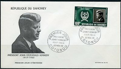 Dahomey 1963  John F. Kennedy Memorial Stamp  First Day Cover