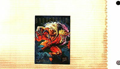 1995 Fleer Ultra X-Men Hunters & Stalkers  Insert Card # 6 SABRETOOTH EX. to NM