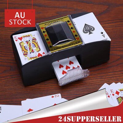 Texas Holdem Card Shuffler Automatic 2 Deck Card Shuffle Poker Casino Playing AU