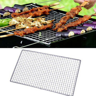 New BBQ Grill Stainless Steel Net Wire Mesh Camping Barbecue Outdoor Picnic
