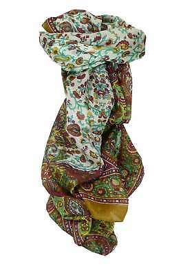 4c7a8bf87435 MULBERRY SILK TRADITIONAL Long Scarf Kera Lime by Pashmina   Silk ...