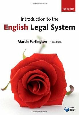 Introduction to the English Legal System,Martin Partington- 9780199238101