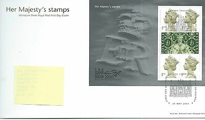 GB - FIRST DAY COVER - FDC - MINI SHEET -2000- HER MAJESTY'S STAMPS - Pmk PB