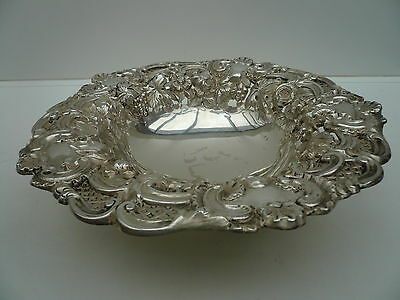 Silver Fruit Bowl, Sterling, Antique, English, Solid, Hallmarked 1833
