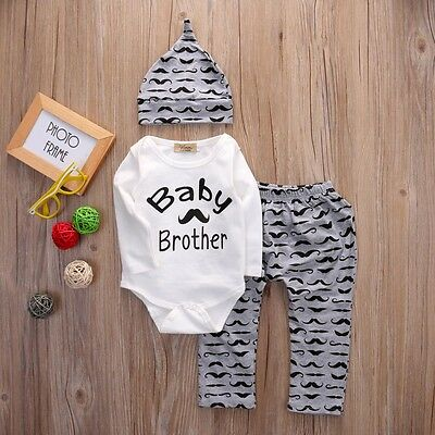 baby boys outfit bundle pjs top trousers hat 03 612