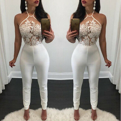 US Sexy-Women-sleeveless-Bandage-Bodycon-Jumpsuit-Rompers-Clubwear-Long-Trousers