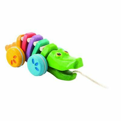 Wooden Pull-Along Rainbow Alligator - Plan Toys Free Shipping!