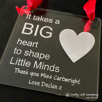 Personalised Gift for Teacher, nursery nurse and teaching assistant thank you