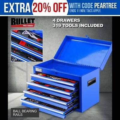 NEW BULLET 319 Piece Tool Kit Chest Tool Box DIY Metric Toolbox Mechanic Set