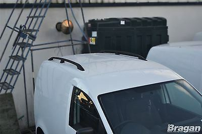 To Fit 10 - 15 VW Volkswagen Caddy Black Aluminium Roof Rails Rack Bars Van Bus