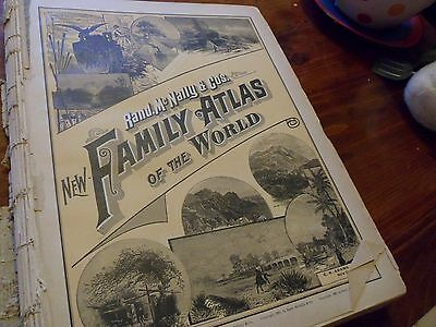 Antique Rand McNally Family Atlas of the World 1891