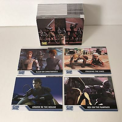 Star Wars Clone Wars - Complete Card Set (1-90) 2008 Topps @ Near Mint