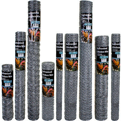 Wire Mesh Galvanised Fencing Chicken Netting Rabbit Fence Pet Garden 25mm/50mm