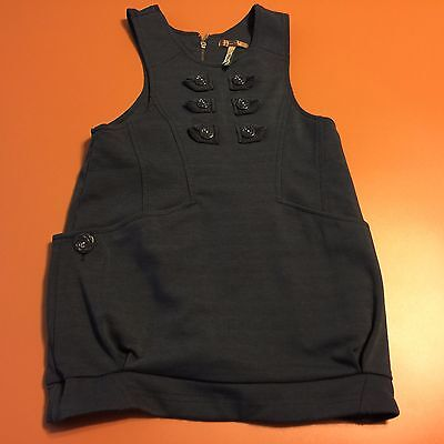 MATILDA JANE Blue Sleeveless Youth Dress You & Me Sz 4 Back 1/2 Zipper