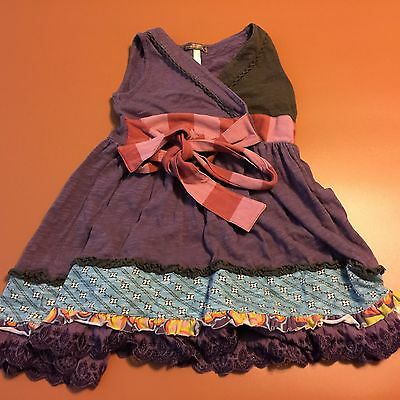 MATILDA JANE Purple Sleeveless Lace Youth Dress You & Me Sz 2
