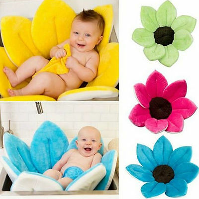 US STOCK Bath Flower Bath Tub for Baby Blooming Sink Bath For Baby Infant Lotus