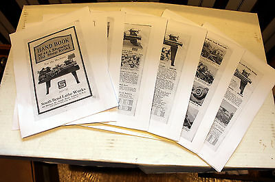 """South Bend Handbook Lathe 9, 13,16,18"""" Inch Lathe 32 Page parts & attachments"""
