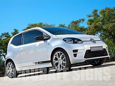 Vw Up Stickers Side Stripes (Pair) Car Decals Graphics Any Colour
