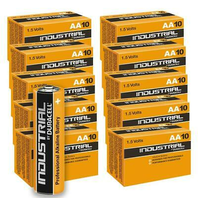 100 Duracell Industrial AA Alkaline Batteries Replaces Procell MN1500 1.5V LR6