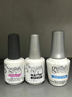 Gelish Nail Lacquer Combo Top + Base + Matte Top
