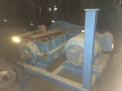 rubber shredder granulator recycling machine with 100 hp motor