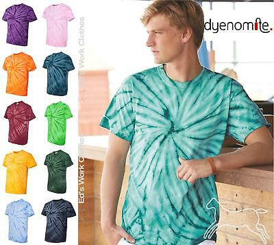 Dyenomite Tie Dyed Cotton Cyclone Pinwheel Short Sleeve T Shirt 200CY up to 3XL