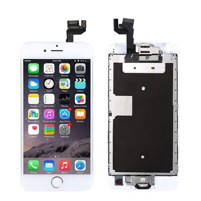 """For iphone 6S 4.7"""" White LCD Touch Screen Digitizer Replacement +Button +Camera"""