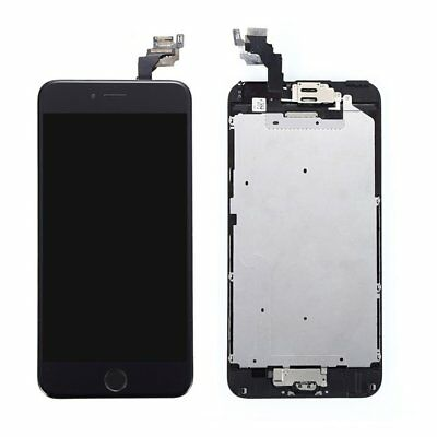 Black For iPhone 6 Plus Complete Touch Screen Replacement LCD Digitizer + Button