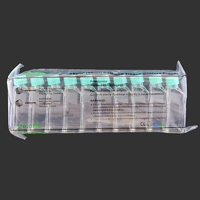 25 cm² Treated, Vented, Cell Culture Flask, Pack of 10