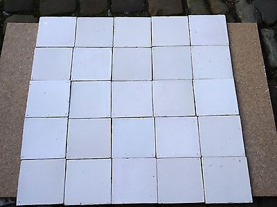 "25 Delft Tiles ""Plain White"" 18th century good quality"