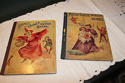 Antique Vintage Victorian Childrens Books (2)-Mother Goose-1895-Donohue-REDUCED!