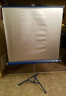 "VINTAGE Da-Lite Silver Flyer A82 40"" x 40"" Projection Screen - Great Condition!"
