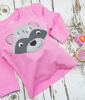 Blade & Rose pink top tshirt match raccoon leggings 0-6-12-18-24 month 1-2 years