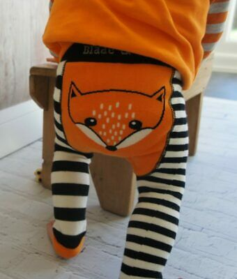 Blade & Rose unisex fox leggings trousers 0-6 6-12 months 1-2 3 years gift