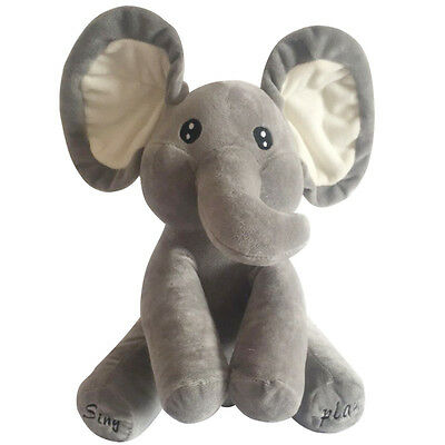 Baby Plush toys Cute Peek-a-boo Elephant Singing Shake the ear Toys  Best Gift