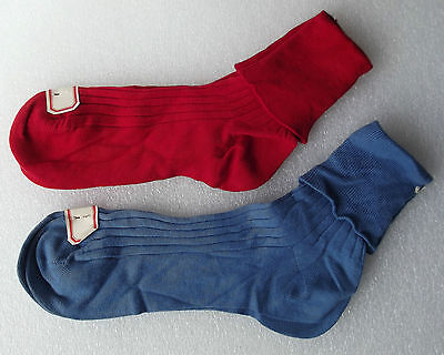 IVANHOE Ribbed over-socks vintage 1960s UNUSED English hosiery Mens or boys RED