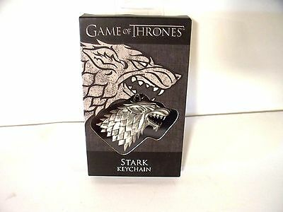 Game Of Thrones, Stark, Pewter color, Keychain, New In Package